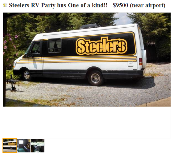 Craigslist Treasure- The NFL Party Wagons